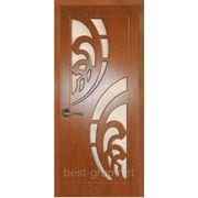 ШАНХАЙ со стеклом Золотистый дуб (60, 70, 80, 90см). Межкомнатная дверь с ПВХ покрытием Gelios (Гелиос) фото