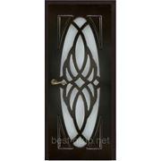 ЖАСМИН со стеклом Венге (60, 70, 80, 90см). Межкомнатная дверь с ПВХ покрытием Gelios (Гелиос) фото