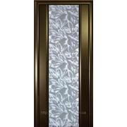 Двери межкомнатные ГЛАЗГО Венге Серые листья фото