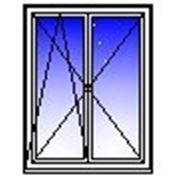 Окно ПВХ двухстворчатое 1500х1400 (панель, п/о+п) фото