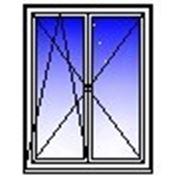 Окно ПВХ двухстворчатое 1500х1400 (кирпич, п/о+п) фото