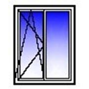 Окно ПВХ двухстворчатое 1500х1400 (кирпич, п/о+гл) фото