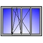 Балконная рама четырехствор. 3000х1500 (п/о+п+гл) фото