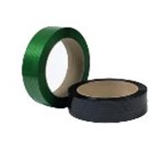 ПЭТ лента зеленый, черный фото