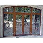 Двери входные деревянные, окна из дерева и ПВХ. Минская область.