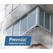 Алюминиевая рама на балкон \ Раздвижная балконная рама фото