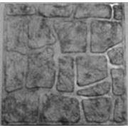 Формы для тротуарной плитки «Колотый камень — Шагрень» глянцевые пластиковые АБС ABS фото