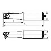 Резцы сборные расточные с механическим креплением цилиндрической вставки с режущим элементом из АСПК («Карбонадо») и Композита-01 (Эльбора-Р) ИС-224 фото