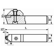 Резцы сборные фасочные с механическим креплением цилиндрической вставки с режущим элементом из АСПК («Карбонадо») и Композита-01 (Эльбора-Р) ИС-216 фото