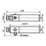 Резец сборный расточной с механическим креплением цилиндрической вставки с режущим элементом из АСПК («Карбонадо») и Композита-01 (Эльбора-Р) ИС-203 фото