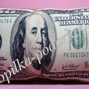 Подушка Пачка долларов фото