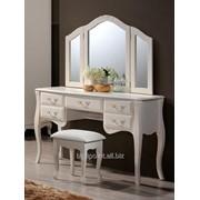Стол будуарный + зеркало + пуф Богемия фото