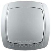 Выключатель Светозар Акцент одноклавишный в сборе, цвет серебристый металлик, 10А/~250В Код:SV-54230-SM фото