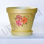 """Цветочный горшочек 2,5л.""""Конус цветы""""-№2601 фото"""