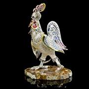 Эксклюзивная скульптура Петушок (серебро 925) фото