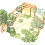 Ландшафтный дизайн сада авторский