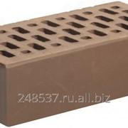 Кирпич облицовочный шоколад одинарный гладкий М-150 Магма фото