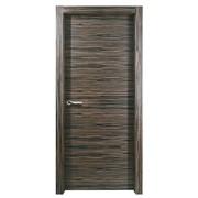 Межкомнатная дверь GORIZONT (зебрано черный) фото