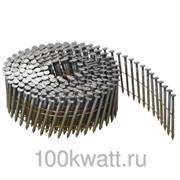 Гвоздь 2,8*80 винт. для пневмозабивных пистолетов Sumake R-100LPA, R-90PA 4500шт. НП рулон (Винт) фото