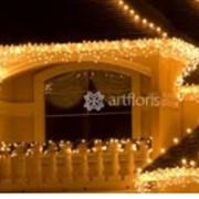 Благоустройство территории вокруг дома, новогоднее оформление фото