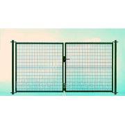 Распашные ворота из 3D панелей, оцинк. Н=1530, L=3000