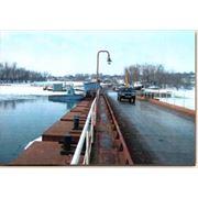 Понтонный разводной мост фото