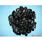 Галька полированная черная 10-20мм фото