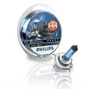 Лампа H4 (Philips) 12V-60/55W Blue Vision блистер фото