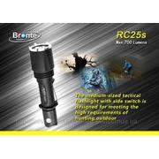 Тактический светодиодный фонарь Bronte RC25s (700 лм, 1x18650 или 2xCR123A), Подарочная упаковка, Чехол фото