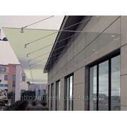 Растяжки для стеклянных навесов и козырьков L-1,0м