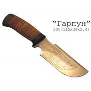 Нож шкуросъемный Гарпун фото