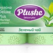 Трехслойная туалетная бумага высшего качества Deluxе Plus Зеленый чай фото