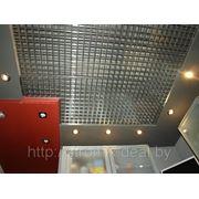Решетчатый потолок Грильято 150х150 н=50 суперхром фото
