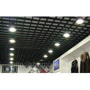 Подвеной потолок Грильято 200х200 н=30 черный фото