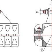 Подвеска для шины выполненной в виде трубы(типаПШТ2) фото
