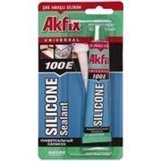 AKFIX силикон в тюбике на блистере прозрачный 50 ML E100 (в ящике 24 шт. ) фото