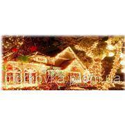 """Новогодняя светодиодная гирлянда 200 диодов синий мульти """"Нить"""" New-year LED garland купить buy фото"""