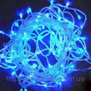 Гирлянда электрическая светодиодная LED влагостойкая, 10 м. цвет голубой фото