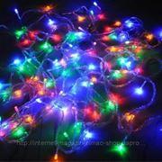 Гирлянда светодиодная LED влагостойкая (медный кабель контроллера) с переходником, 20 м. цвет мультиколор фото