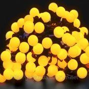 """СВЕТОДИОДНАЯ ГИРЛЯНДА"""" БАХРОМА ШАРИКИ 3*0.5м"""", цвет желтый фото"""