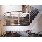 Декоративные изделия из нержавеющей стали, Ограждение лестниц из черного металла, ограждения из стали, фото