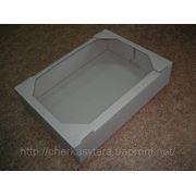 Гофролоток (экран) кондитерский 385х280х87 коричневый фото