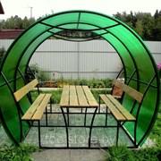 Беседка садовая Агросфера-Пион 3 метра + мангал фото