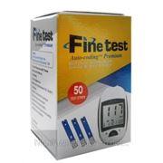 Тест полоски к глюкометру Fine test (50 шт) фото