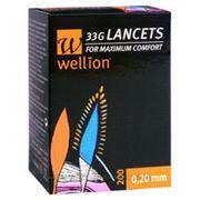 Ланцеты Веллион (Wellion) 33G (0,20мм) №50 фото