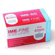 Иглы для инсулиновых шприц-ручек 31Gх4мм №100 фото