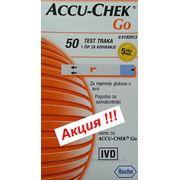 АКЦИЯ !!! Тест-полоски Акку Чек Гоу (Accu-Chek Go) №50 - 5 уп. фото