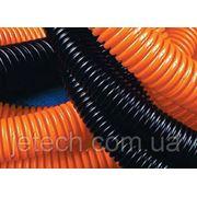 Труба гофрированная чёрная с протяжкой, d=25/18,3 350 Н ПЕ, ДКС, 71725 фото