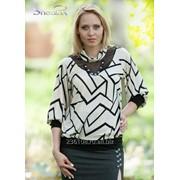 Блуза 1506 Графика цвет фото
