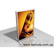 Штендер для сменного изображения на металическом каркасе фото